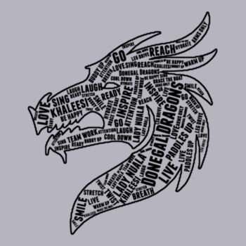 Donegal Dragons Word Cloud - College Hoodie Design