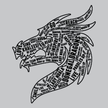 Donegal Dragons Word Cloud - Softstyle™ long sleeve t-shirt Design