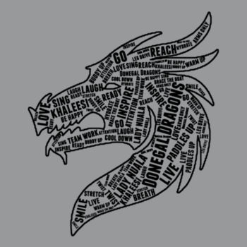 Donegal Dragons Word Cloud - Softstyle™ women's ringspun t-shirt Design