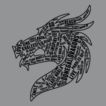 Donegal Dragons Word Cloud - Softstyle™ adult ringspun t-shirt Design