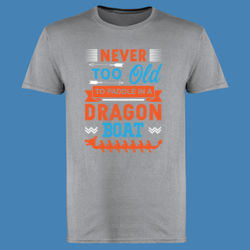 Never too old to paddle in a Dragon Boat - Softstyle™ adult ringspun t-shirt Thumbnail