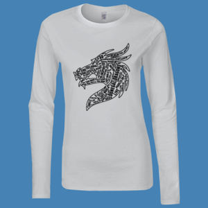 Donegal Dragons Word Cloud - Softstyle™ women's long sleeve t-shirt Thumbnail