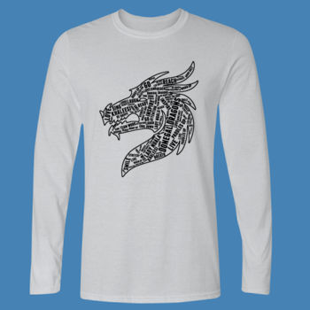Donegal Dragons Word Cloud - Softstyle™ long sleeve t-shirt Thumbnail
