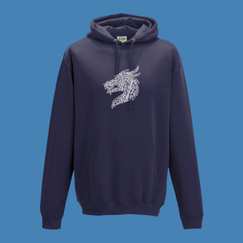 Donegal Dragons Word Cloud - College Hoodie Thumbnail