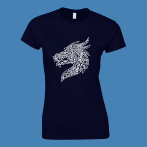 Donegal Dragons Word Cloud - Softstyle™ women's ringspun t-shirt Thumbnail