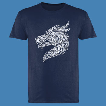 Donegal Dragons Word Cloud - Softstyle™ adult ringspun t-shirt Thumbnail
